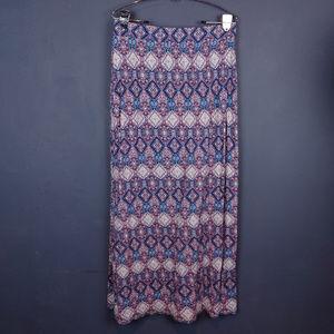 Olive & Oak Boho Patterned Maxi Skirt